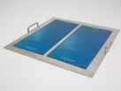 Two Ratek AWM33X16 Adhesive Work Mats shown here on AT10 Adhesive Mat Tray